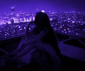 girl, city, and red image