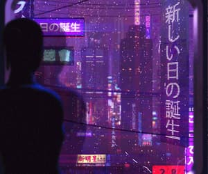 gif, purple, and light image
