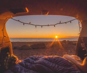 sunset and travel image