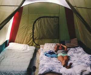 camping, tent, and adventure image