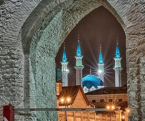 night, russia, and kazan kremlin image