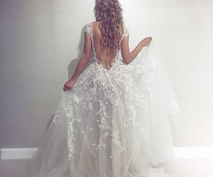 bride, dress, and marriage image