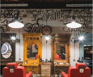 barber shop, comercial, and decorar image