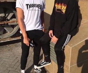 vans, thrasher, and adidas image