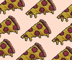 pattern, pizza, and wallpaper image