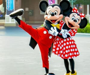 couple, red, and minnie image
