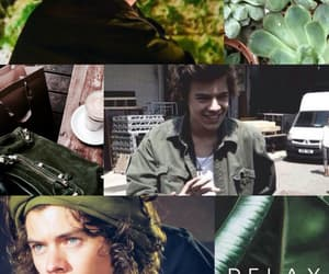 green, 1d, and harty styles image