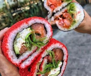 food, sushi, and theme image