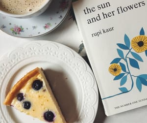 cheesecake, rupi kaur, and the sun and her flowers image