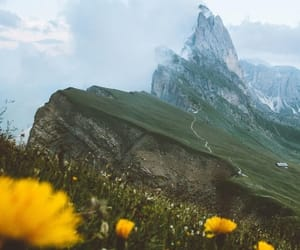 clouds, mountain, and nature image