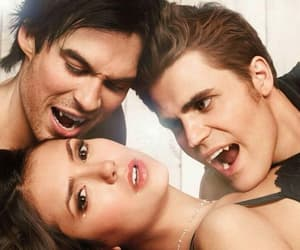 ian somerhalder, paul wesley, and Nina Dobrev image