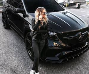 black, car, and fashion image