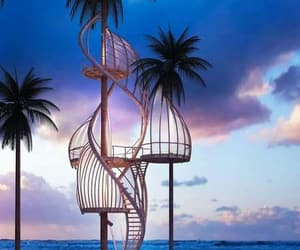 holidays, palmen, and vacances image