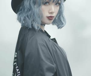 aesthetic, blue, and blue hair image