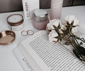 beauty, book, and floral image