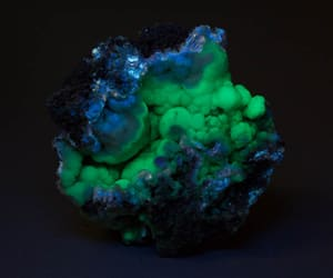 black light, mineral, and blue image