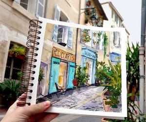 art, Houses, and place image