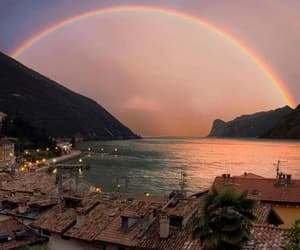rainbow, sea, and sky image