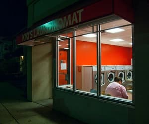 aesthetic, red, and laundromat image