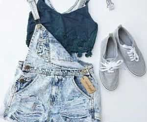 jeans, moda, and look image