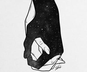 art, estrelas, and maos image