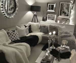 gray, home decor, and silver image