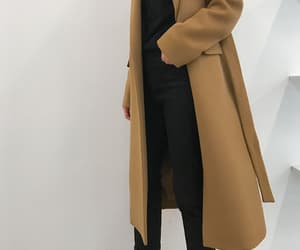 casual, camel coat, and clothes image
