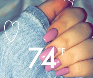 nails, snapchat, and girl image