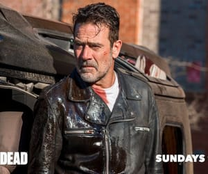 the walking dead, negan, and rick grimes image