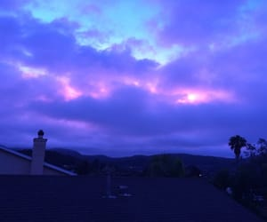 sky, purple, and blue image