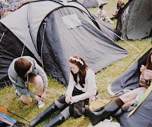 festival, hippy, and camping image