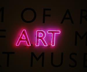 art and neon light image