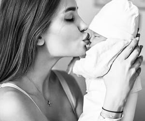 baby, kiss, and beauty image