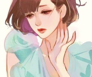 anime girl, brown hair, and fashion image
