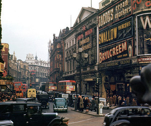 london, city, and vintage image