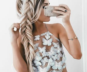 accessories, style, and fishtail braid image