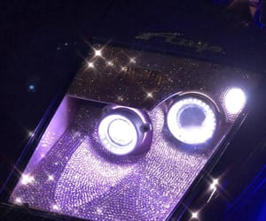 cars, headlight, and purple image