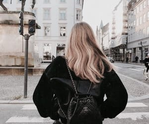 fashion, blonde, and travel image