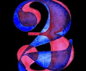numbers, typography, and number 3 image