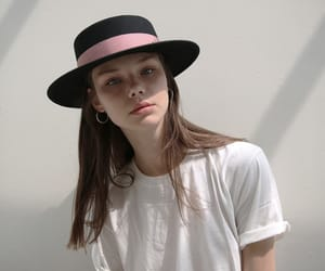 fedora hat, bobbieswant, and classic boater hat image