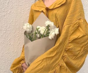 yellow, flowers, and fashion image