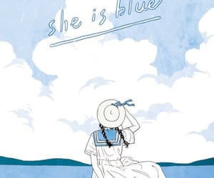 girl, blue, and summer image