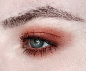 eyes, orange, and makeup image