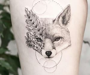 fox, girl, and ink image