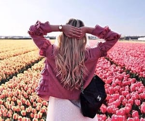 flowers, tulips, and fashion image