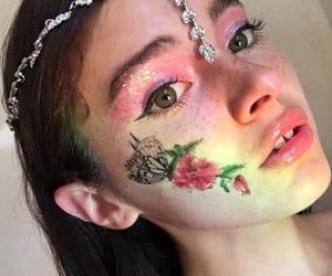 girl, makeup, and face image