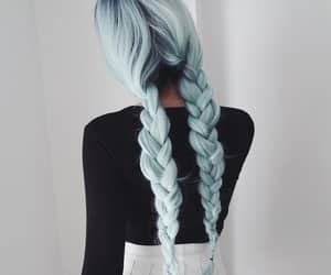 hair, blue, and style image