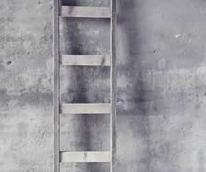 grey, aesthetic, and ladder image