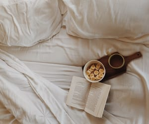 bananas, bed, and books image
