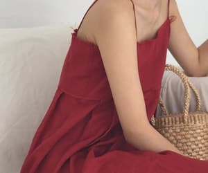 aesthetic, fashion, and red image